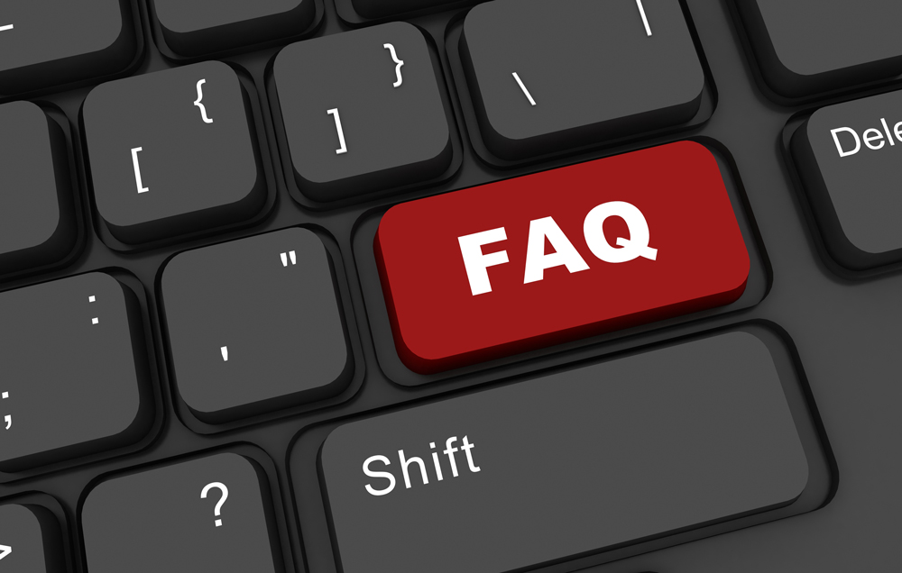 FAQ Page image on Keyboard